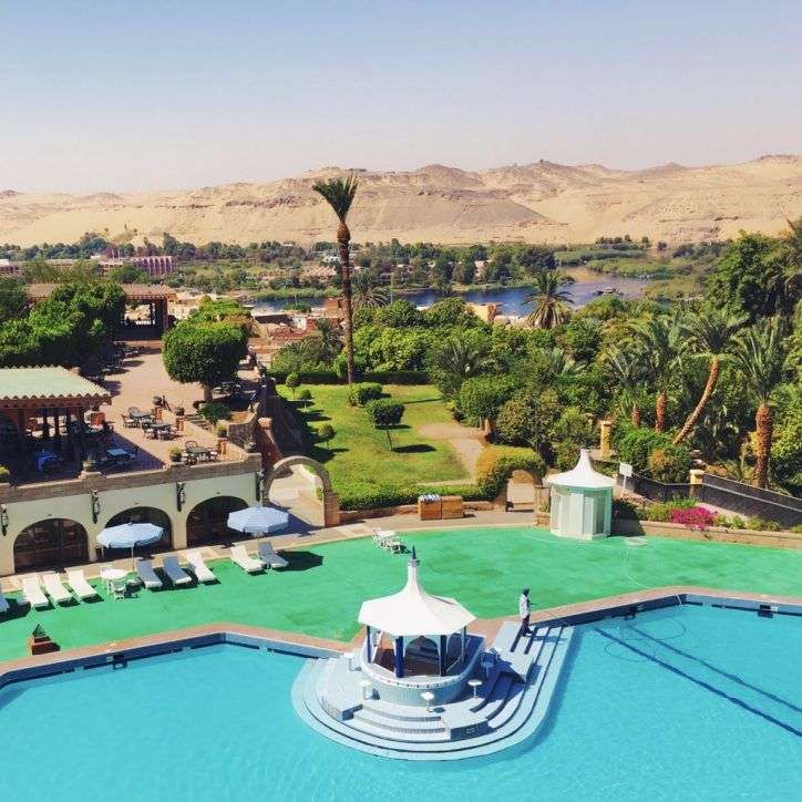 Pool bar by hotel pool in Basma Hotel aswan