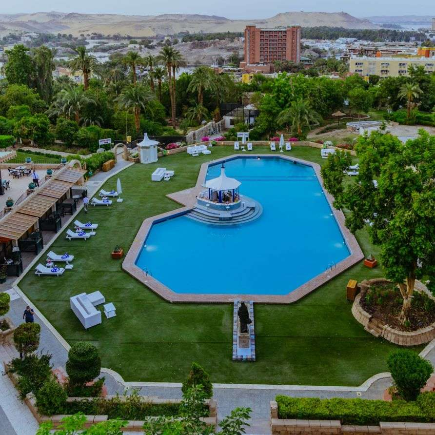 Hotel Pool and Landscape in Aswan | Basma Hotel