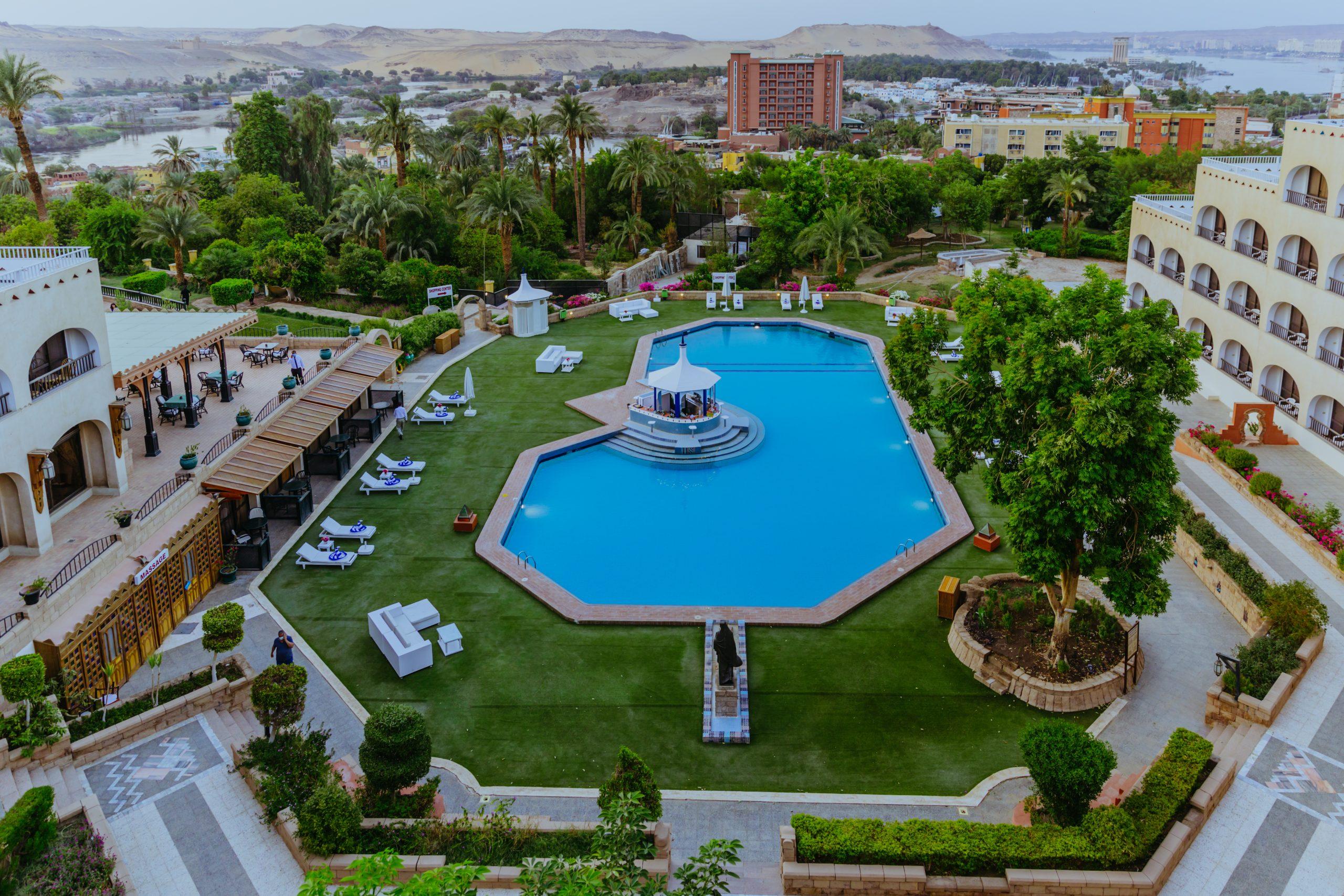 Hotel Pool and Landscape in Aswan | Basma Hotel